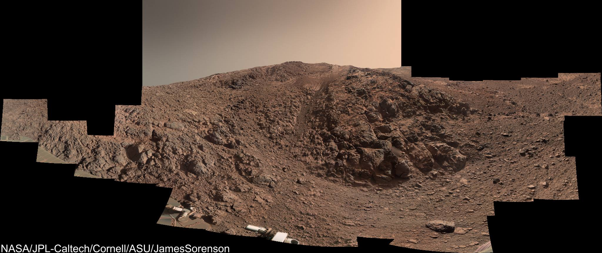 Opportunity rover moves to new target on steep slope, sees ...