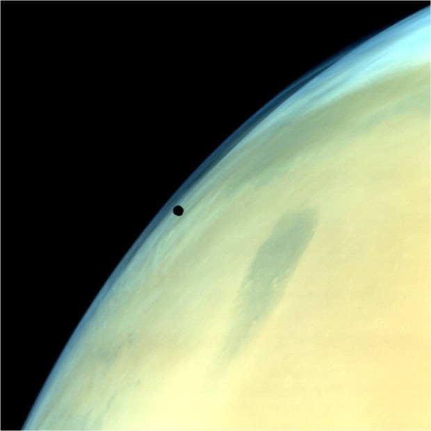 Mars and Phobos as seen by the Mars Orbiter Mission (MOM). Photo Credit: Indian Space Research organization (ISRO)