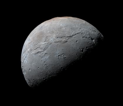 High-resolution view of Charon from New Horizons. Photo Credit: NASA/JHUAPL/SwRI/Daniel Macháček