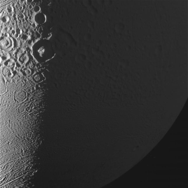 A bit closer: another raw image from Cassini's latest flyby of Enceladus. Photo Credit: NASA/JPL-Caltech