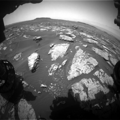 View of the new rock targets currently in front of the rover after a short drive. Photo Credit: NASA/JPL-Caltech