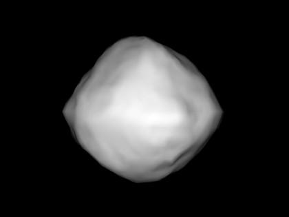 A radar-derived model of asteroid Bennu. Image Credit: NASA/NSF/Cornell/Nolan