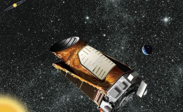 Artist's illustration of Kepler in orbit. Credit: NASA / Kepler mission / Wendy Stenzel