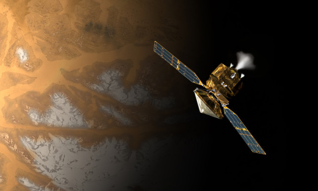Illustration of Mars Reconnaissance Orbiter (MRO) as it entered orbit ten years ago. Image Credit: NASA/JPL
