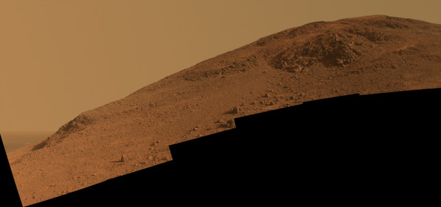 Another view, looking upward at Knudsen Ridge. Image Credit: NASA/JPL-Caltech/Cornell Univ./Arizona State Univ.