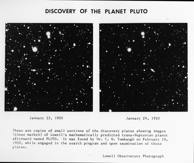Pluto was first discovered on Feb. 18, 1930, by astronomer Clyde Tombaugh at Lowell Observatory. Image Credit: Lowell Observatory