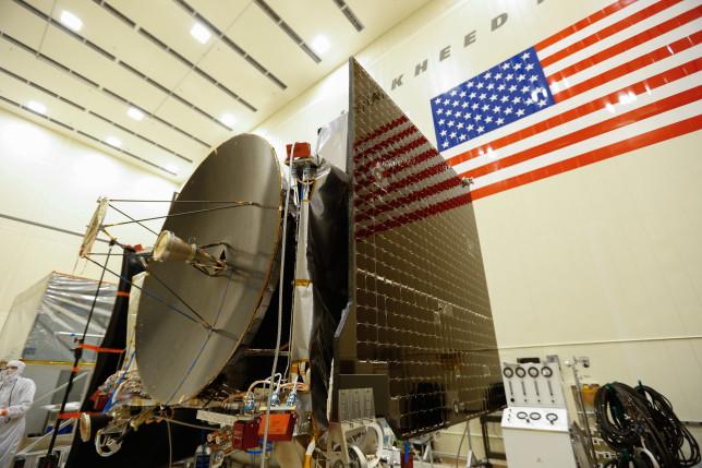 The completed OSIRIS-REx spacecraft. Photo Credit: NASA