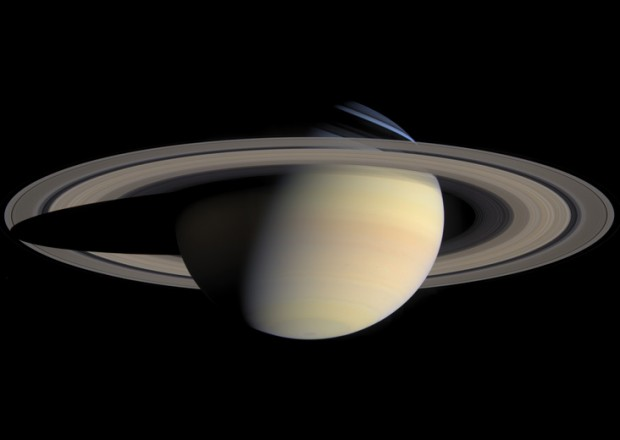 "As well as its moons, Saturn itself can create ""waves"" in its rings. Credit: NASA / JPL / Space Science Institute"
