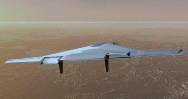 Another view of the proposed VAMP aircraft. Image Credit: Northrop Grumman artist's concept