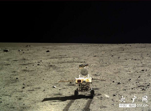 View of the Yutu rover on the Moon, taken by the Chang'e 3 lander. Credit: cnr.cn