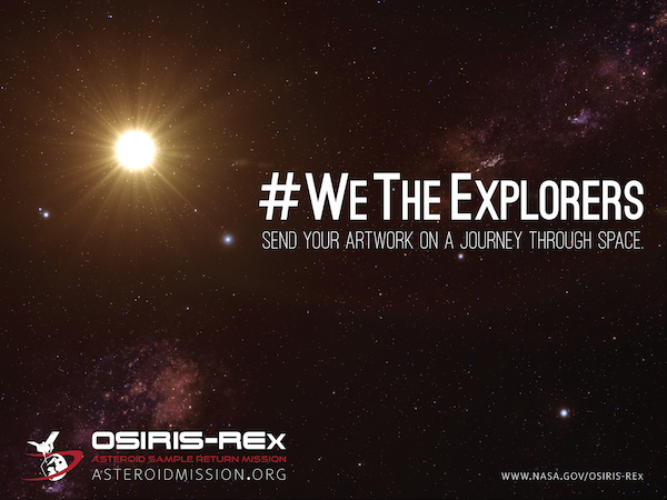 Promotional image for the We The Explorers campaign. Image Credit: NASA
