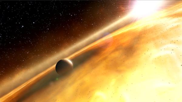 Artist's conception of Fomalhaut B. Credit: ESA / Hubble / M. Kornmesser / ESO / L. Calçada / L. L. Christensen