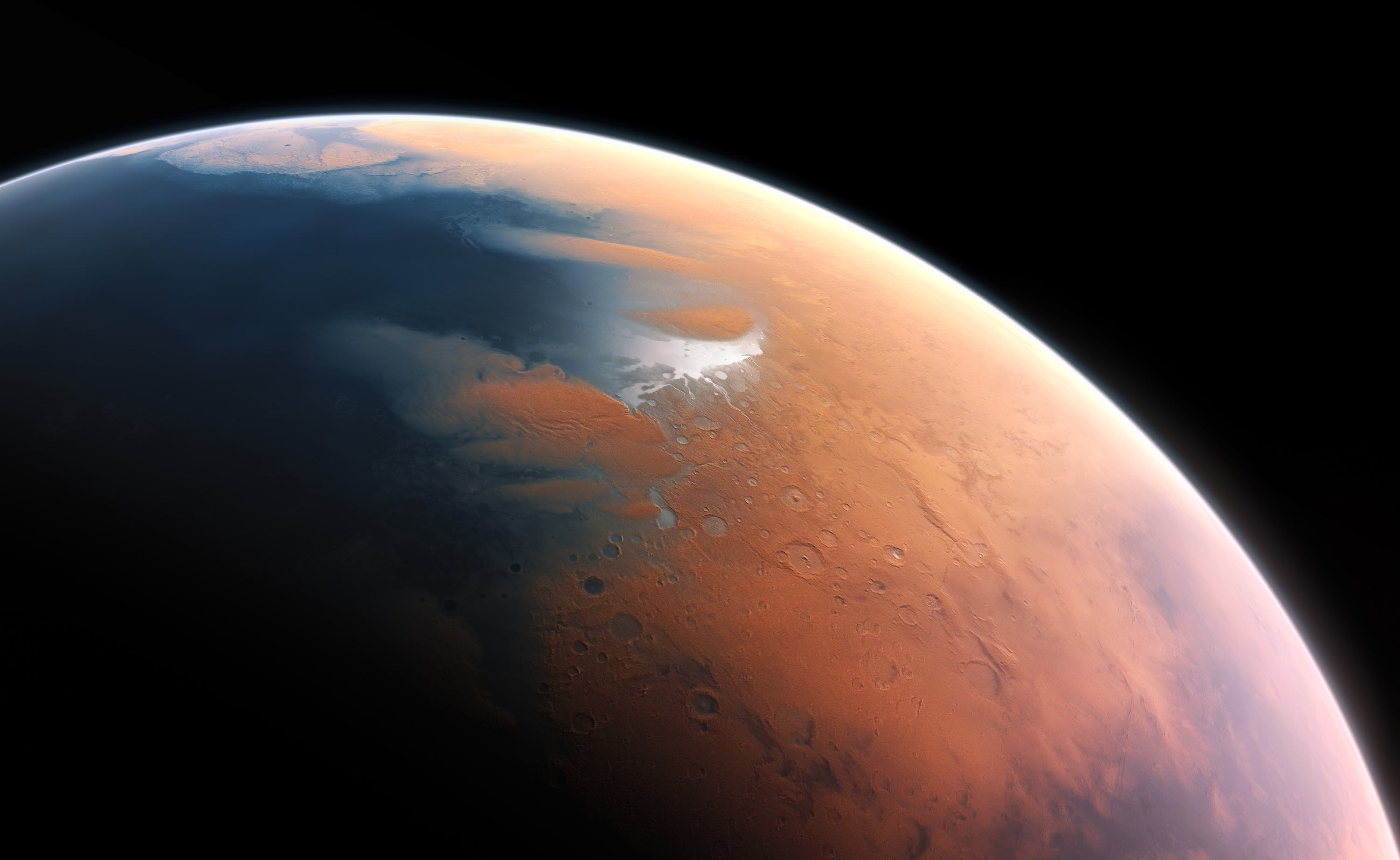 Mars used to have a thicker atmosphere and water on its surface but