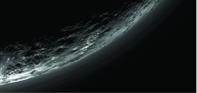 A closer look at the haze layers in Pluto's atmosphere. Photo Credit: NASA/JHUAPL/SwRI/Gladstone et al./Science (2016)
