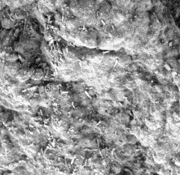 """Cropped zoom of some of the """"shavings."""" Image Credit: NASA/JPL-Caltech/Paul Scott Anderson"""