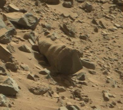 """Snail shell"" rock in Dingo Gap. Credit: NASA / JPL-Caltech"